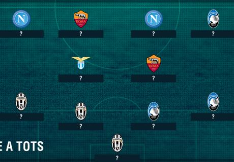 L'équipe-type de la Serie A 2016-2017