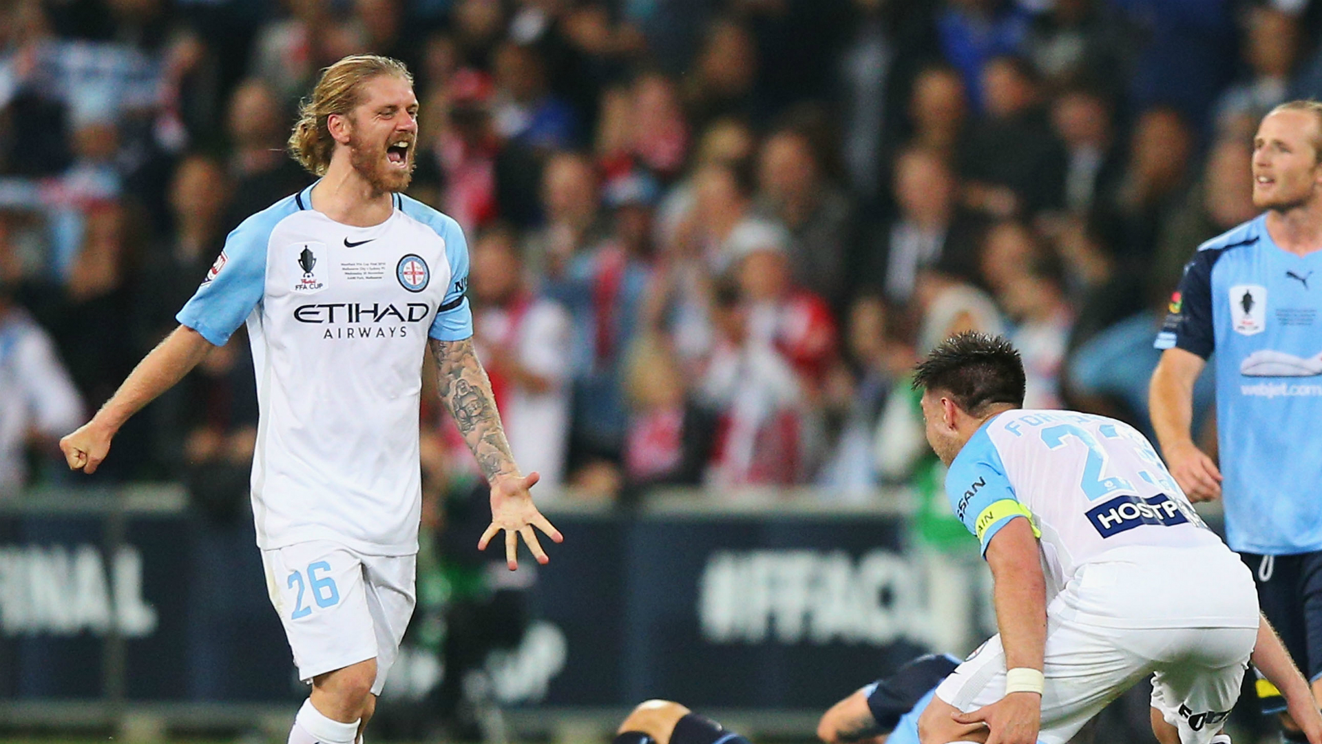 Luke Brattan Melbourne City v Sydney FC FFA Cup 30112016