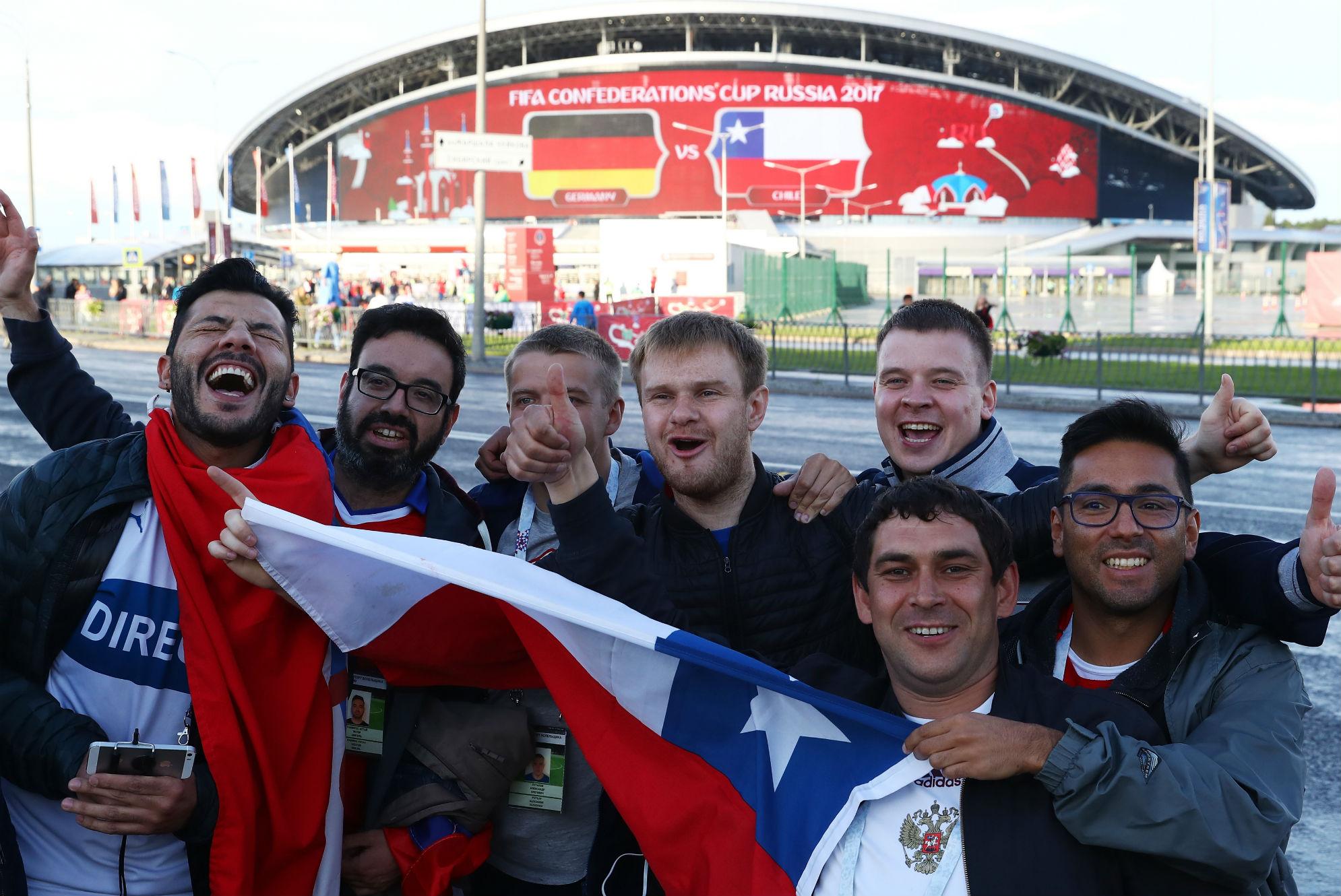 Chile fans Kazan