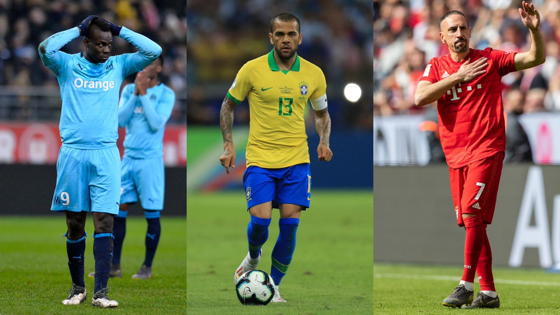 Mercato - Balotelli, Dani Alves, Ribéry... L'équipe-type des joueurs toujours sans contrat