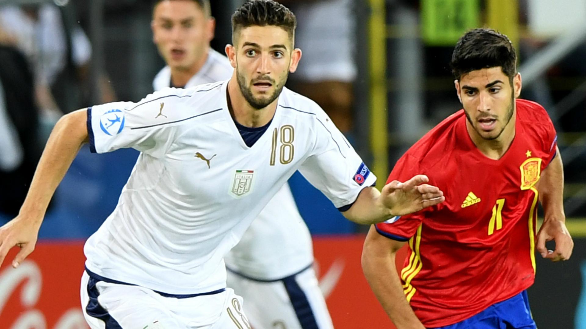 Asensio Gagliardini Spain U21 Italy U21