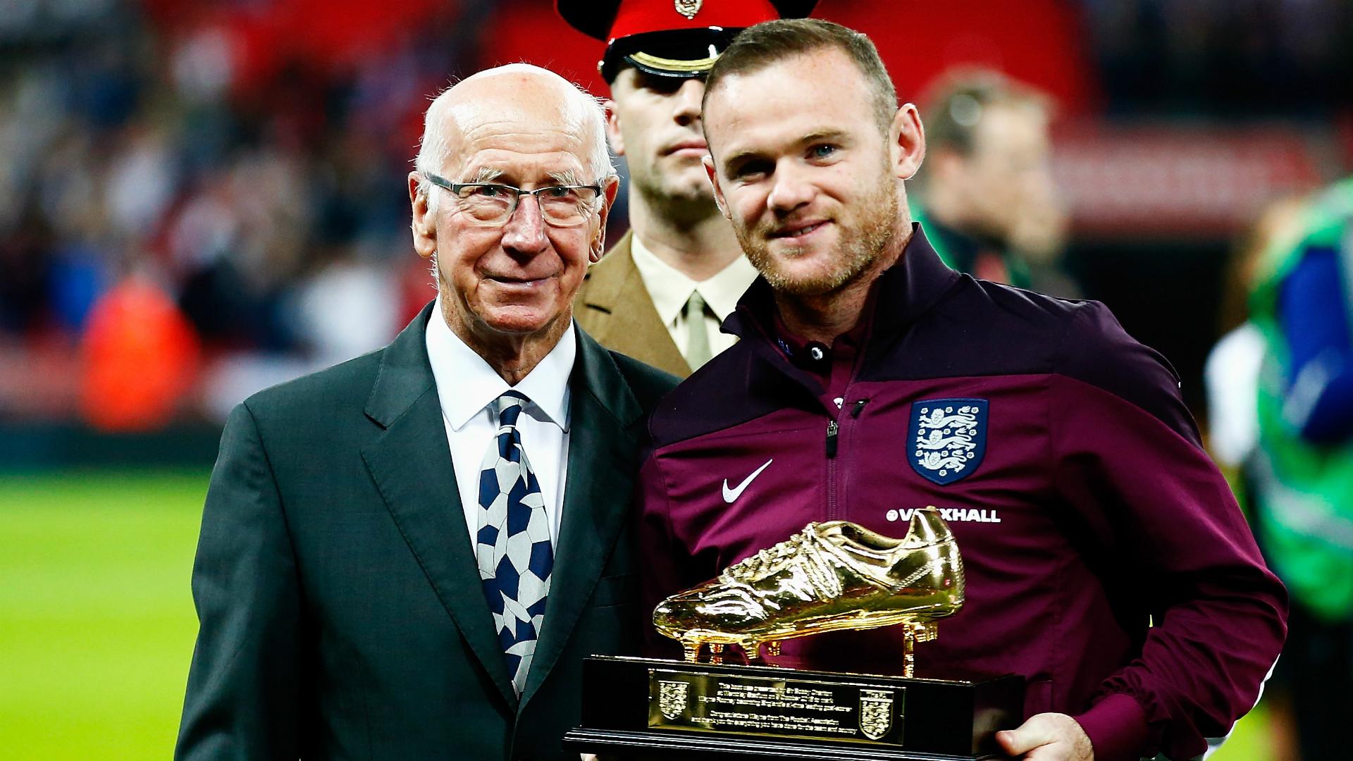 Wayne Rooney Sir Bobby Charlton England