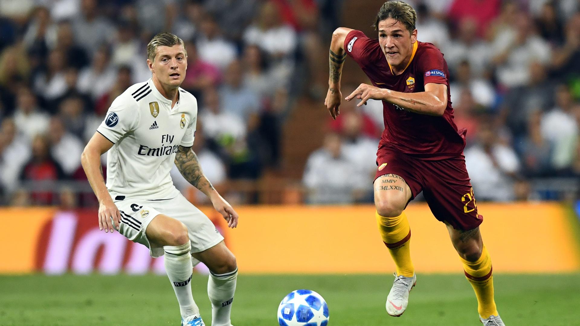 Roma, la top 11 di Zaniolo: De Rossi e 5 giocatori del Real Madrid