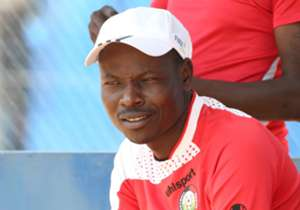 Harambee Stars coach Stanley Okumbi watches on as the team trains ahead of two friendly matches - against Uganda and DRC Congo.