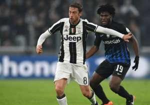 Marchisio in azione contro l'Atalanta