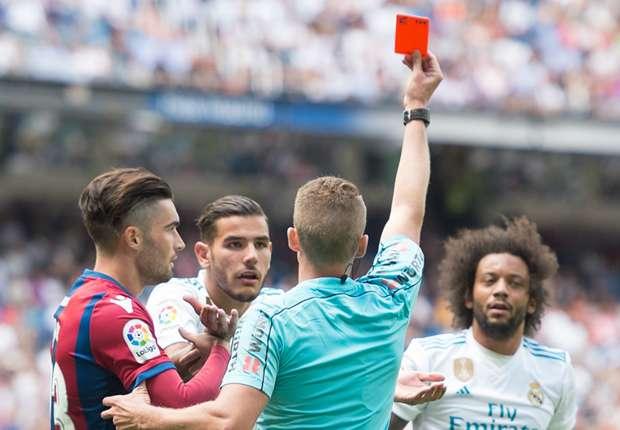 Real Madrid, expulsé face à Levante (1-1), Marcelo est suspendu deux matches