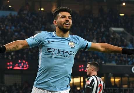 Aguero hat-trick sinks Newcastle