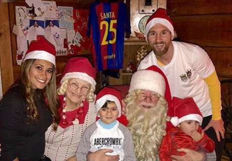 De Messi a Ronaldo: así fue la Navidad de los cracks