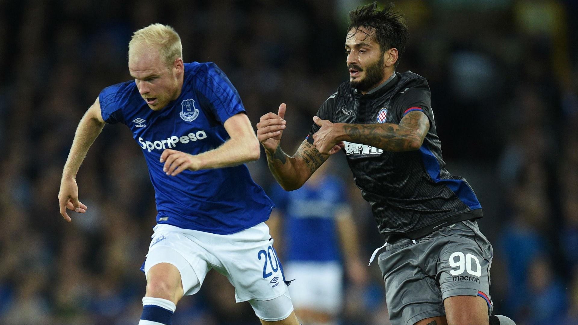 Davy Klaassen Savvas Gentsoglou Everton Hajduk Split Europa League