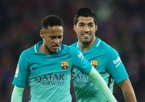 Neymar und Luis Suarez (r.) stürmen seit 2014 gemeinsam für den FC Barcelona