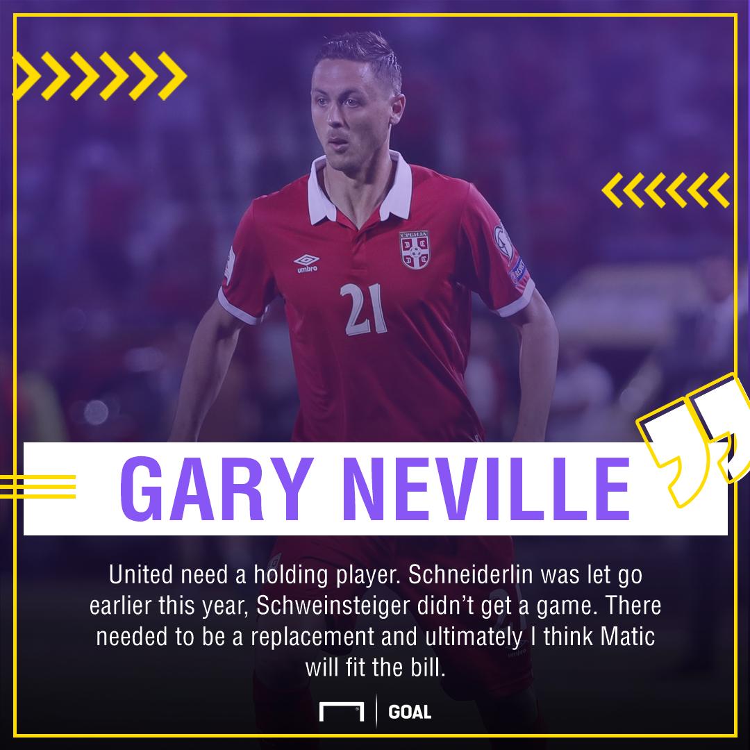 Nemanja Matic Gary Neville Manchester United