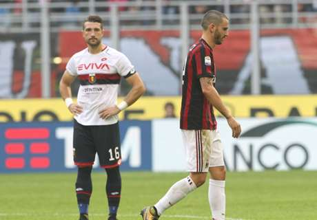 Milan's Bonucci sent off for nasty elbow