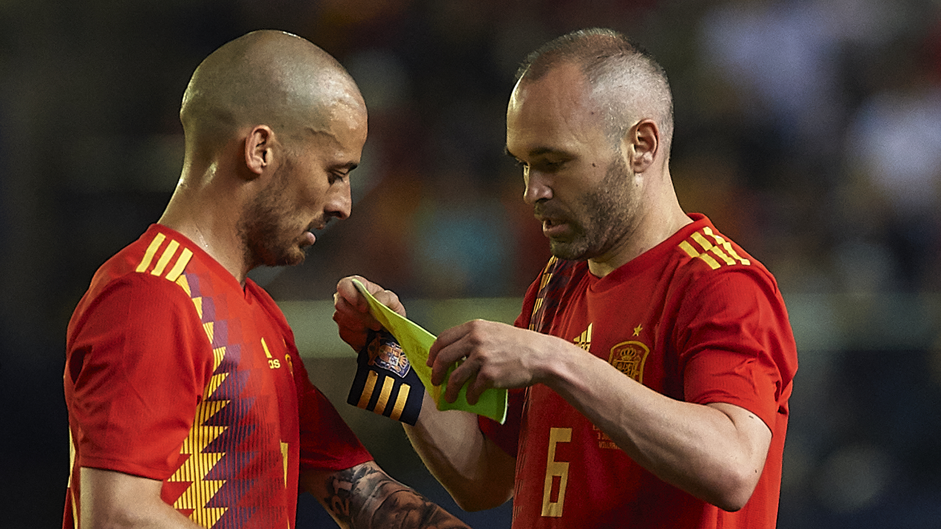 Andres Iniesta David Silva Spain