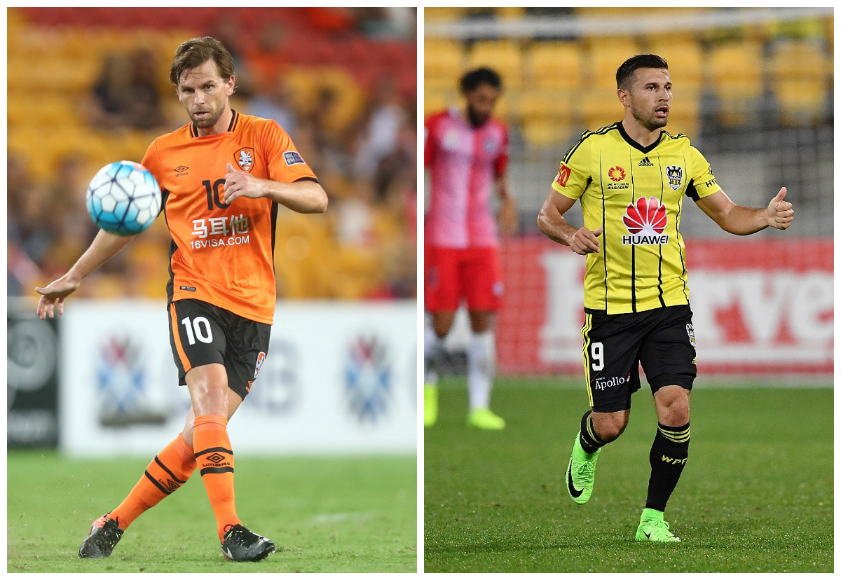 Visiting Wellington Phoenix upset flat and depleted Brisbane Roar outfit