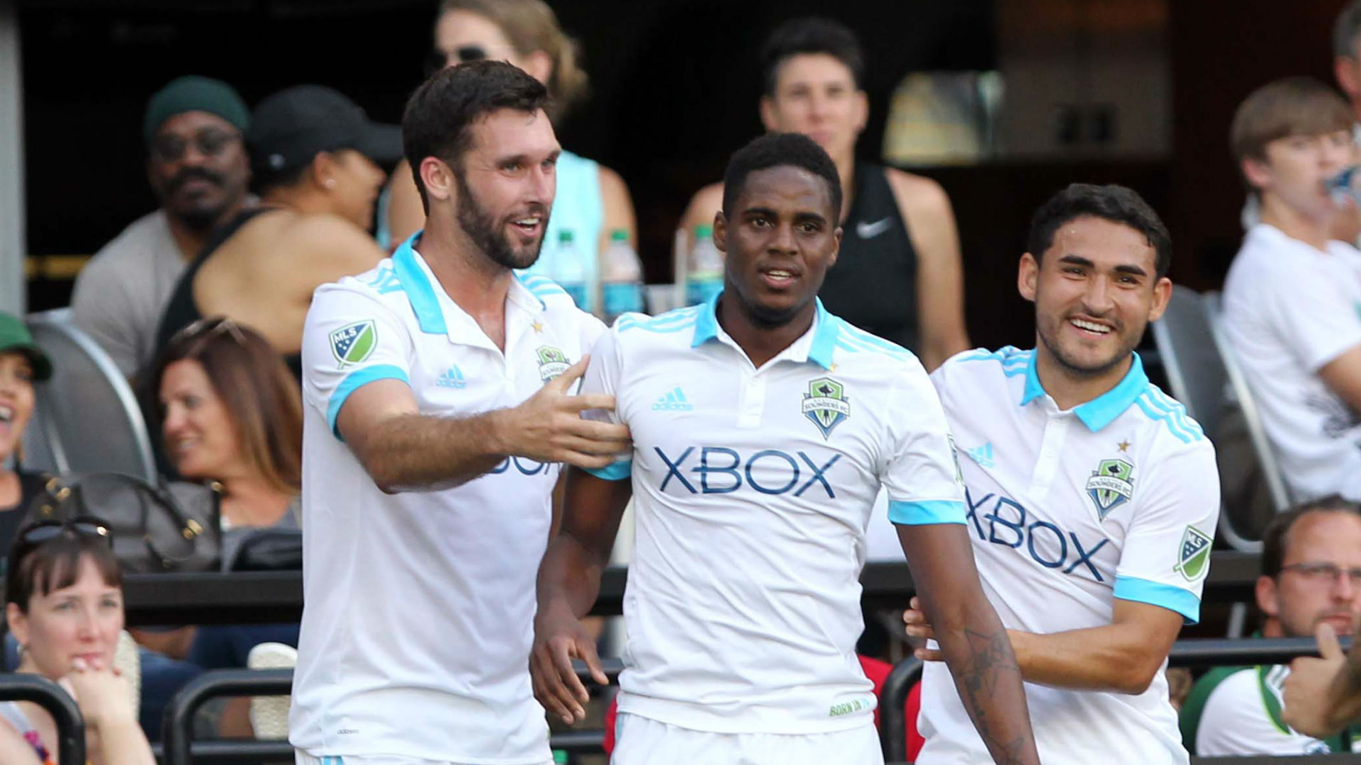 Will Bruin Joevin Jones Cristian Roldan Seattle Sounders