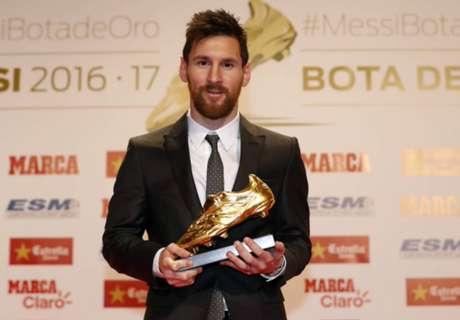 Messi Sabet Trofi Sepatu Emas Eropa