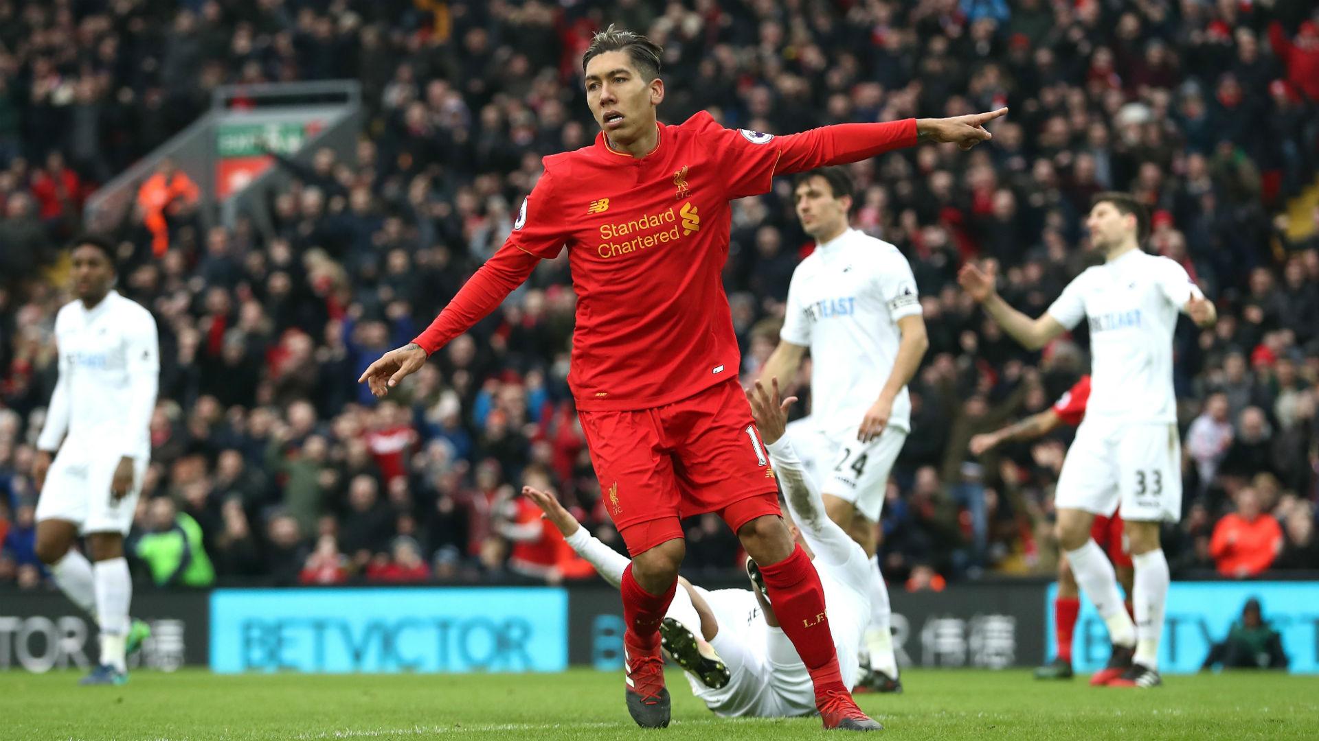 Liverpool Swansea Roberto Firmino