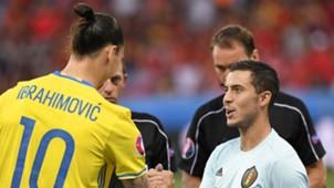 Sweden Belgium, Zlatan Ibrahimovic, Eden Hazard, UEFA Euro 2016