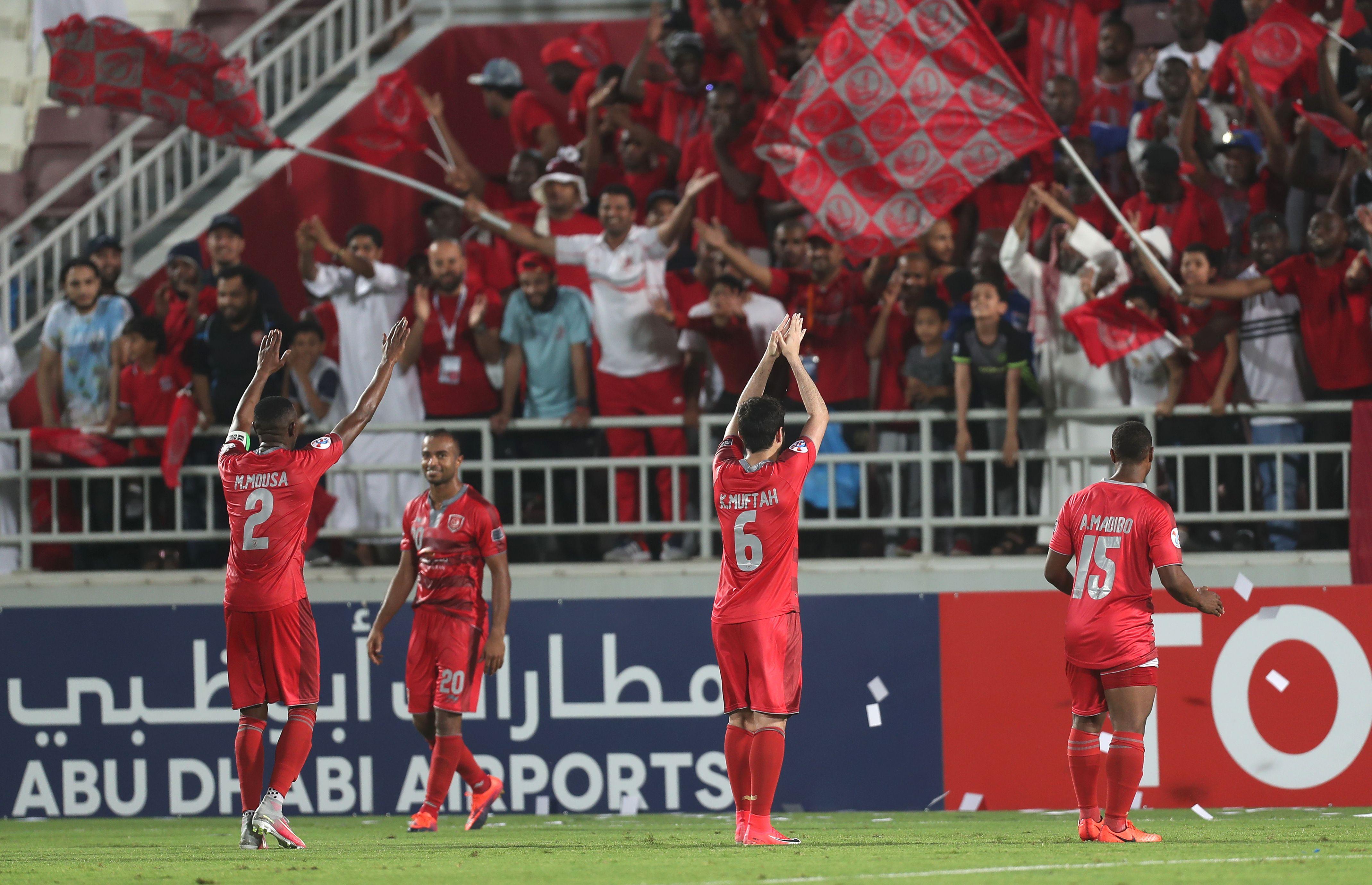 Lekhwiya celebrate after win over Esteghlal Khouzestan