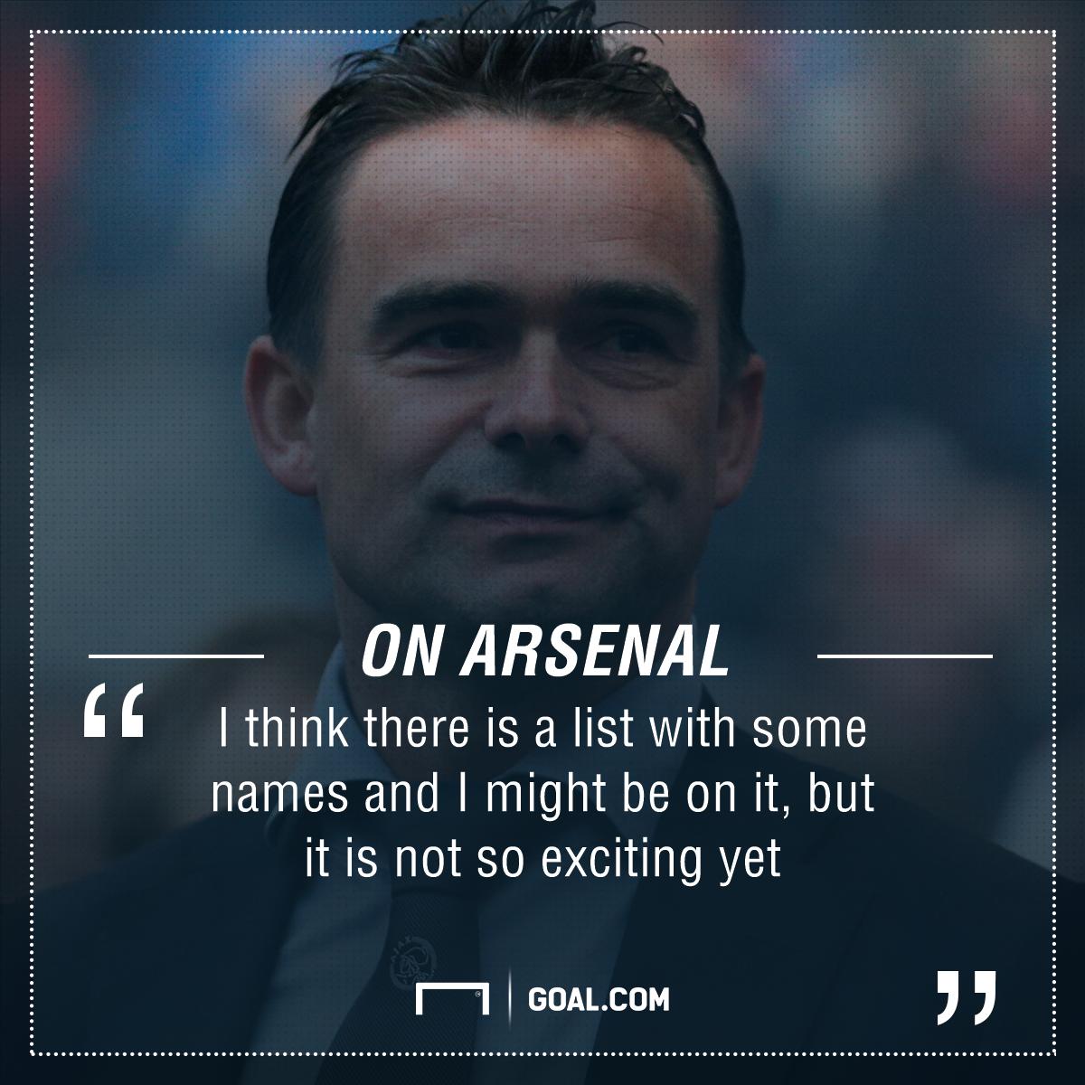 GFX Info Marc Overmars Arsenal quote
