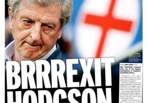 <strong>MIRROR | Inggris | BRRREXIT HODGSON |</strong> Bos Inggris mundur hanya beberapa menit usai dipermalukan Islandia