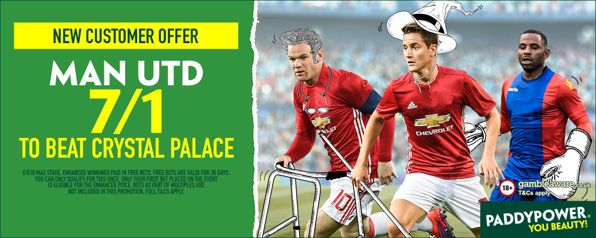 GFX Manchester United Crystal Palace enhanced betting
