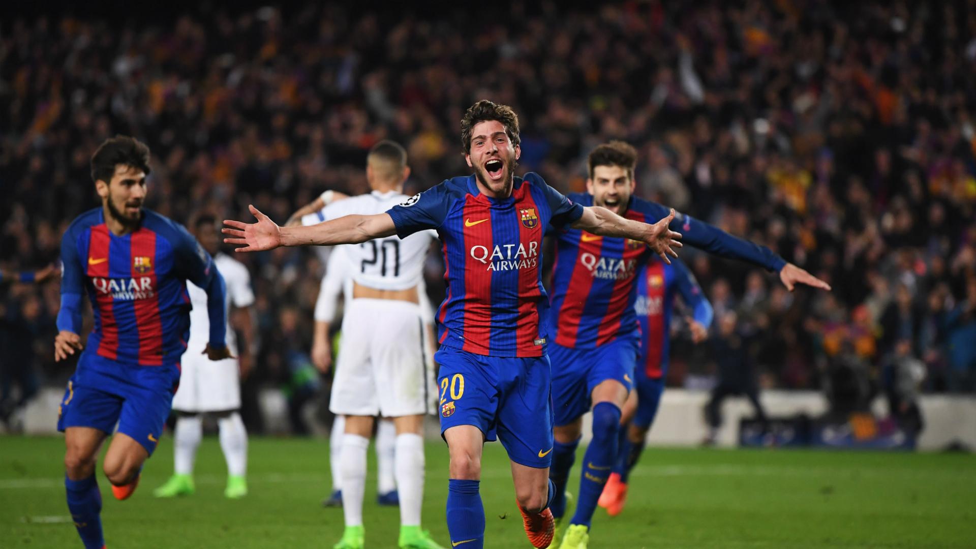 Sergi Roberto Barcelona v Paris Saint-Germain Champions League 08102017
