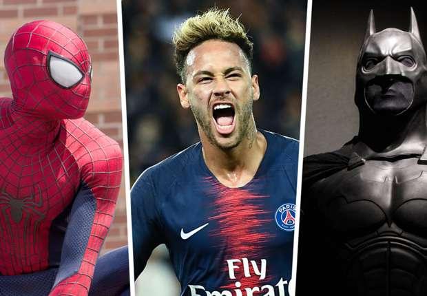 Neymar channels his inner superhero with Batman and Spider-Man tattoos