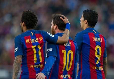 WATCH: Barca's MSN in post challenge