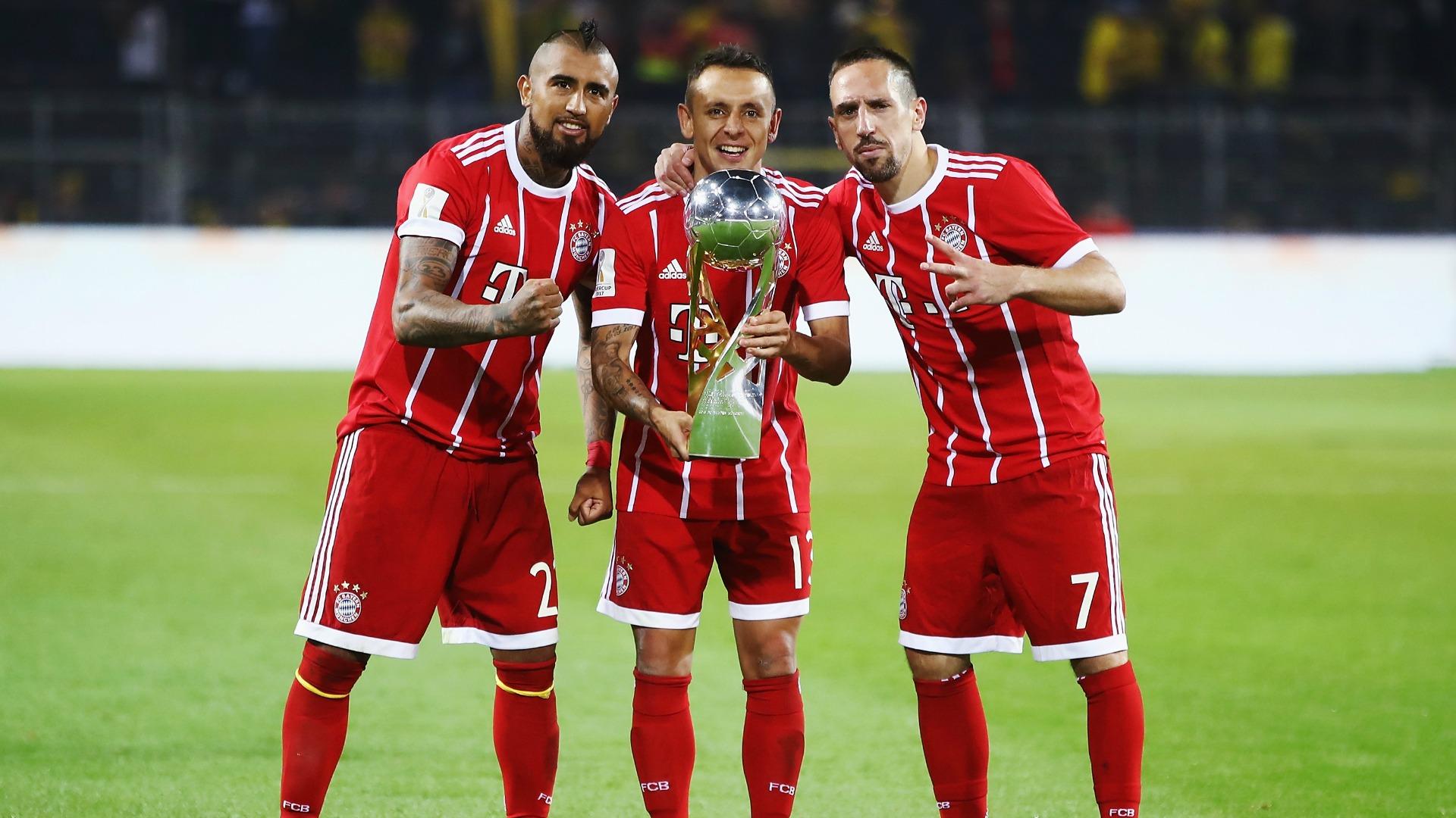 Arturo Vidal Franck Ribéry Rafinha Bayern Dortmund 050817