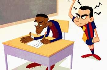 CARTOON: Dembele's Barcelona exam!