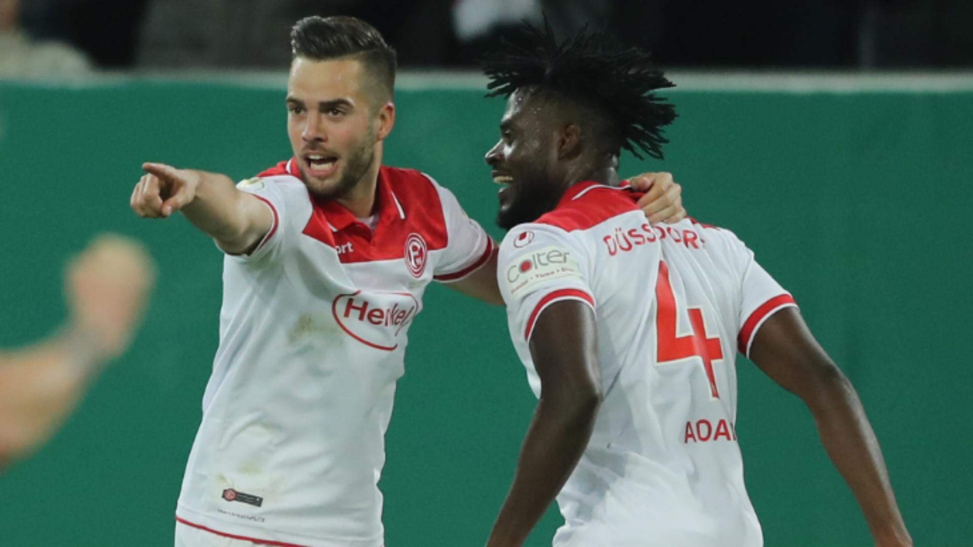 Kasim Nuhu on target in Fortuna Dusseldorf's German Cup win over Erzgebirge Aue