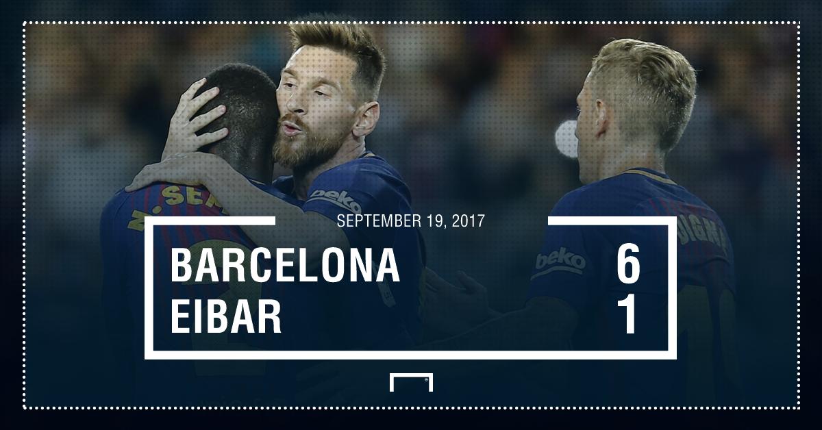 Barca Eibar score
