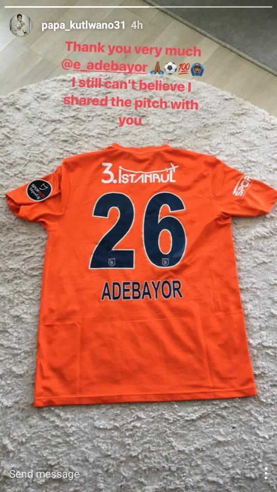Tokelo Rantie's Emmanuel Adebayor jersey