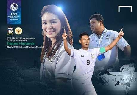 AFC U-23 qualification : ไทย - อินโดนีเซีย