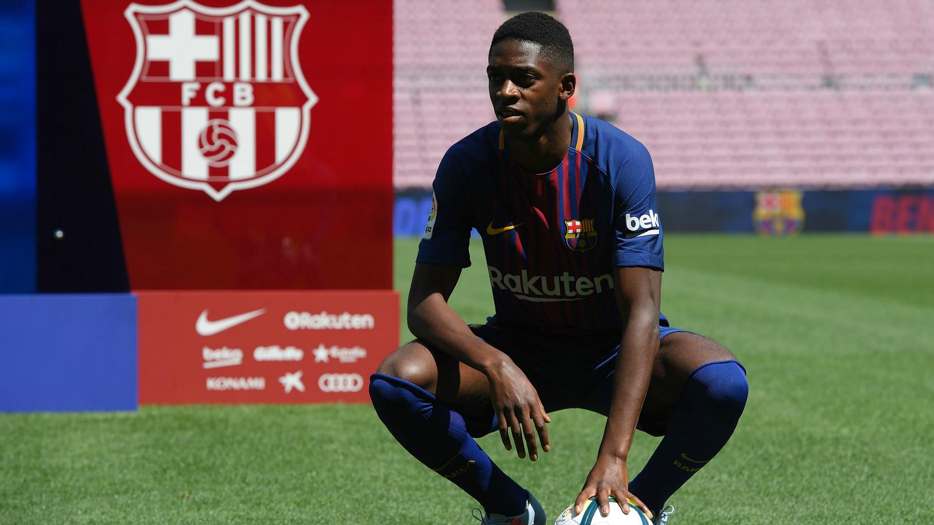 Ousmane Dembele Barcelona Unveiling