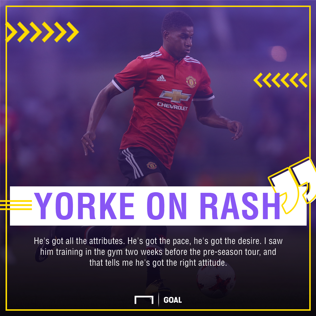 Marcus Rashford Manchester United Dwight Yorke quote