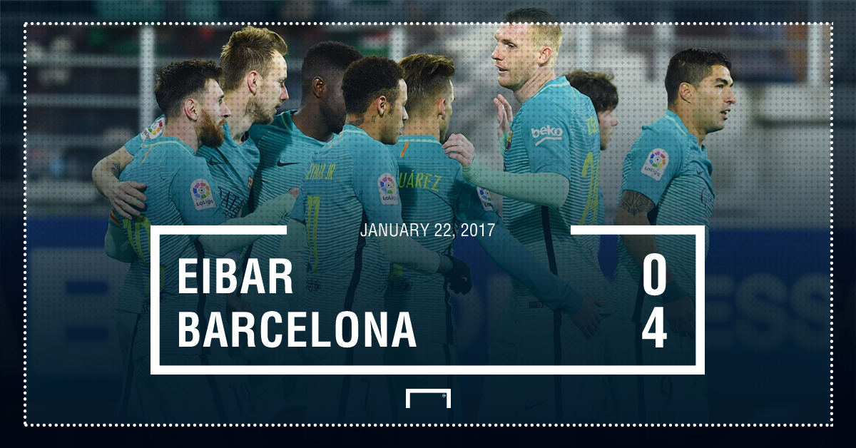 Eibar Barca result 4-0