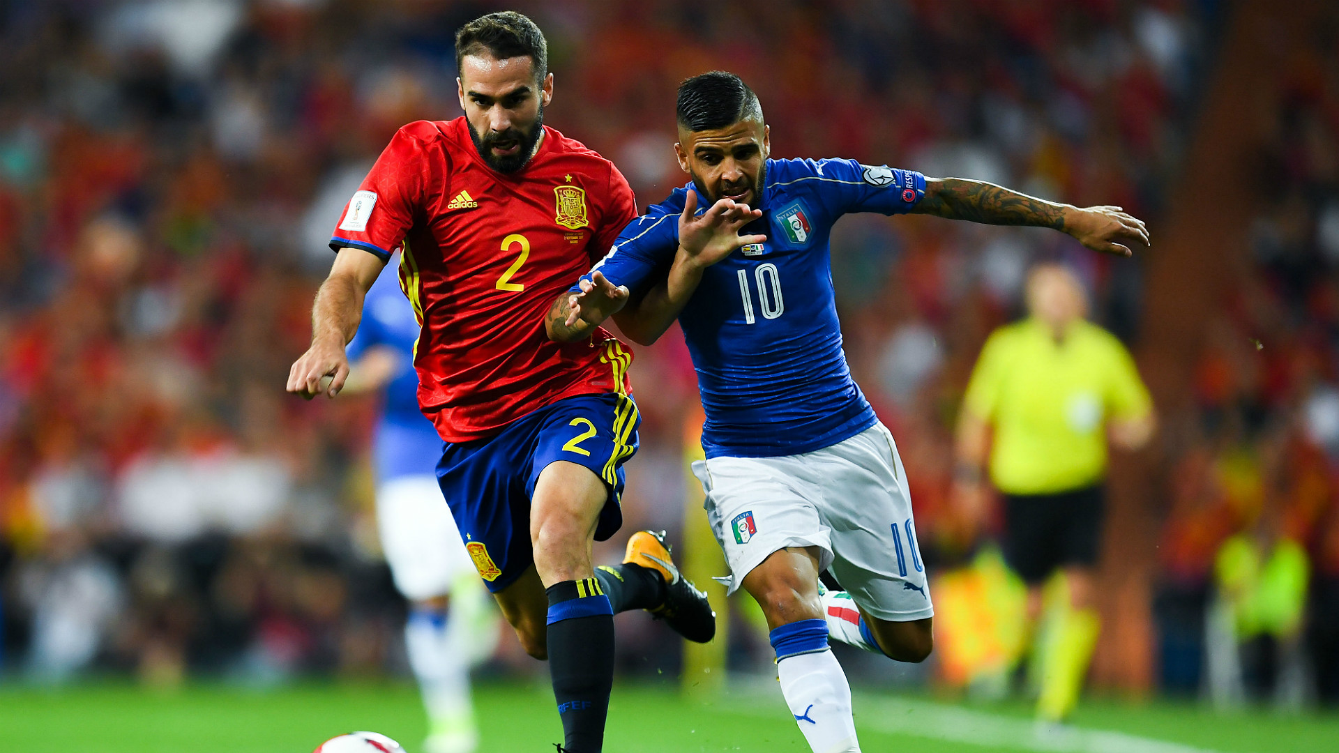 Dani Carvajal Lorenzo Insigne Spain Italy WC Qualifiers