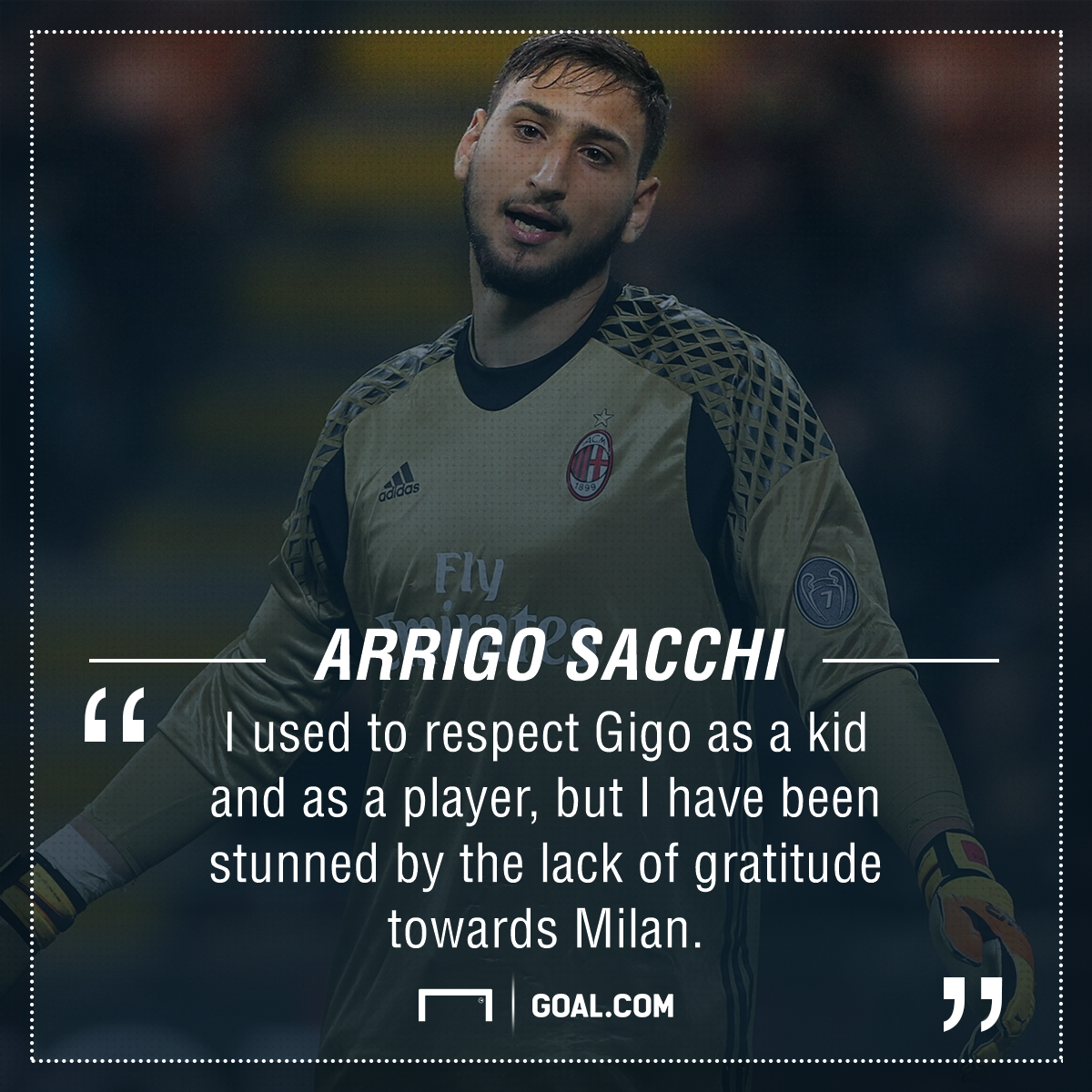 Donnarumma showered with fake money during Italy U21 clash