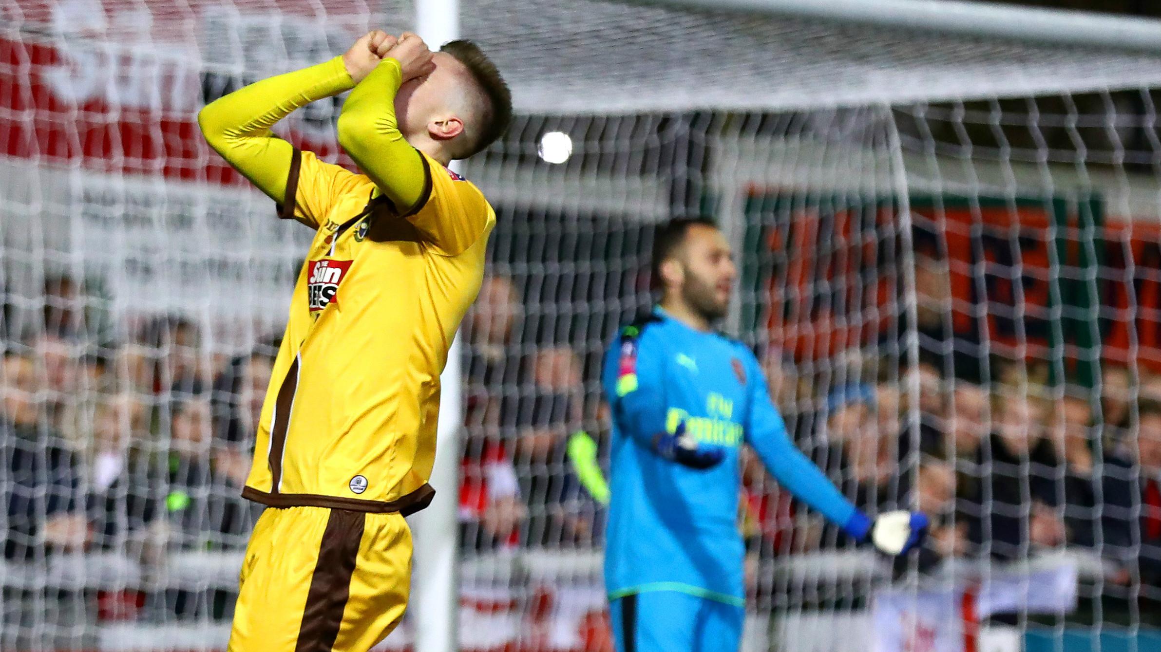 Adam May Sutton United Arsenal FA Cup