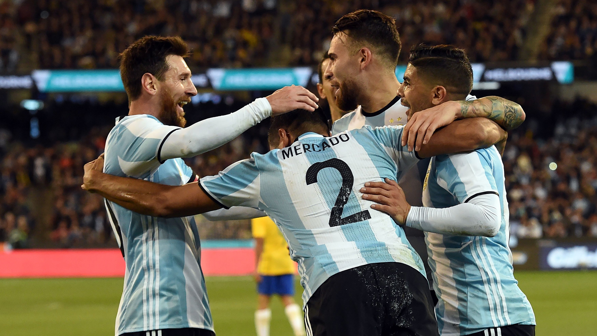 Mercado, Messi, Argentina - Brasil, Friendlies, 09062017