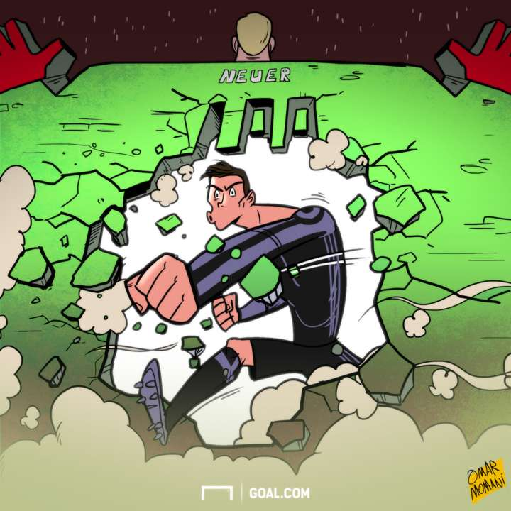 Cartoon - Ronaldo's 100 goal