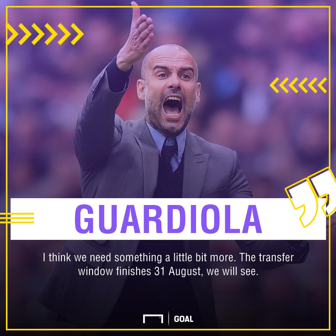 Pep Guardiola Manchester City transfer window