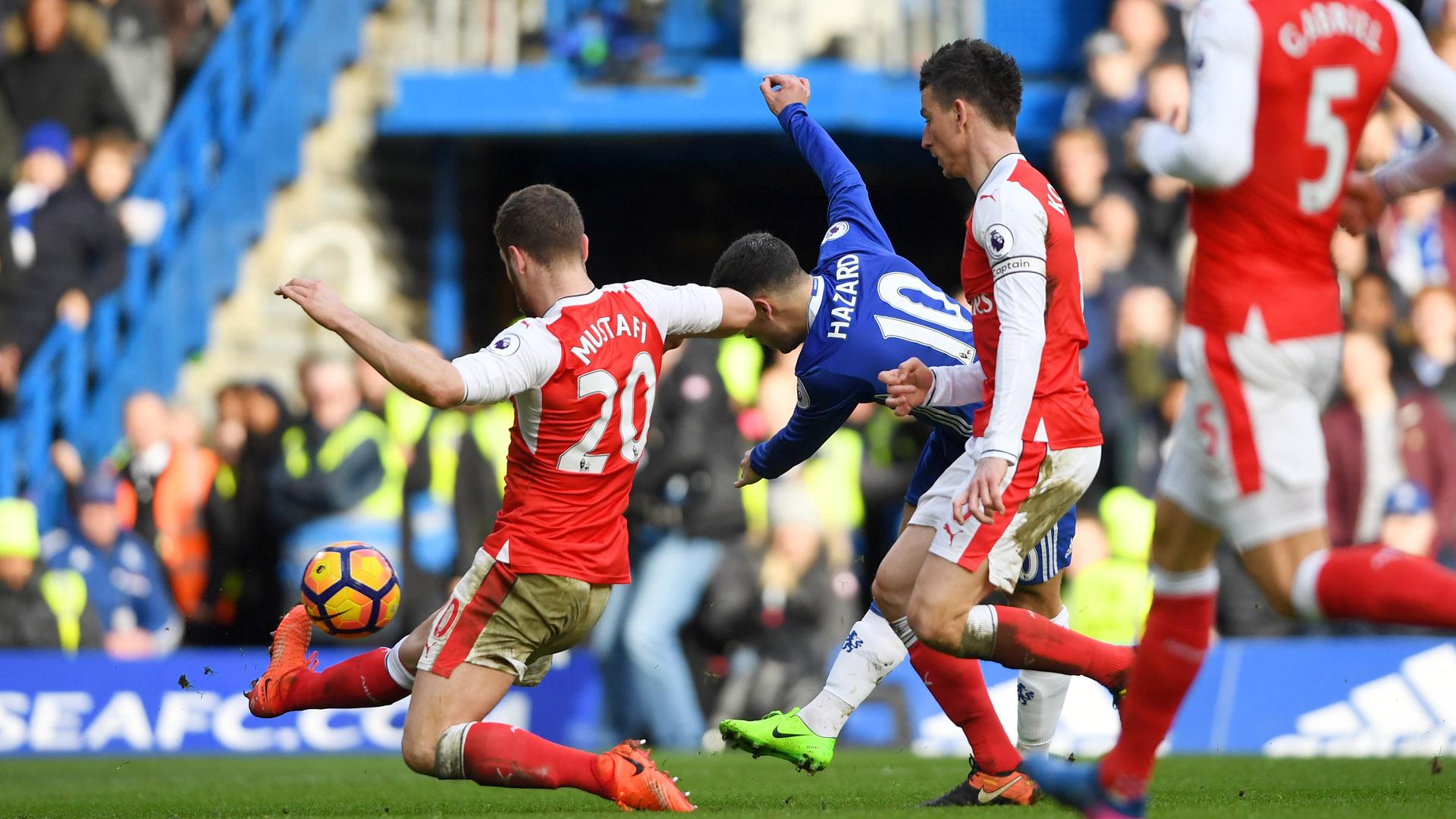 Eden Hazard Chelsea Arsenal Premier League 04022017