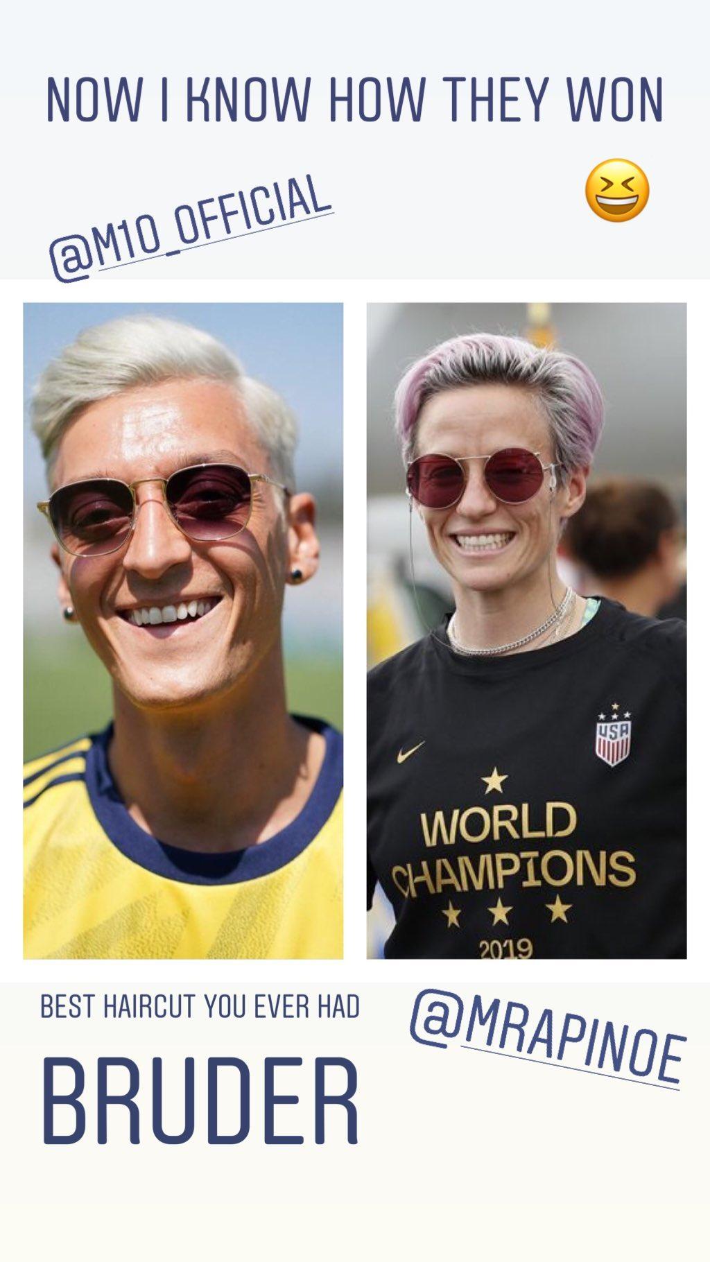 WTF - Arsenal : Quand Aubemayang compare Mesut Özil à Megan Rapinoe