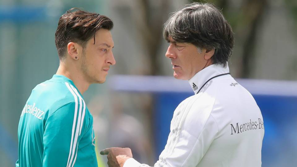Mesut Ozil Joachim Low Germany