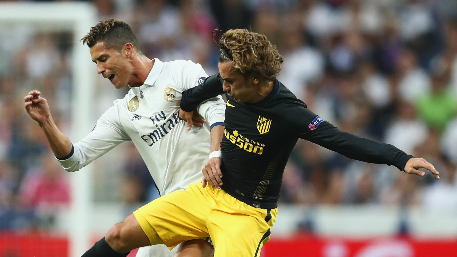 Cristiano Ronaldo Antoine Griezmann Real Madrid Atletico Madrid Champions League