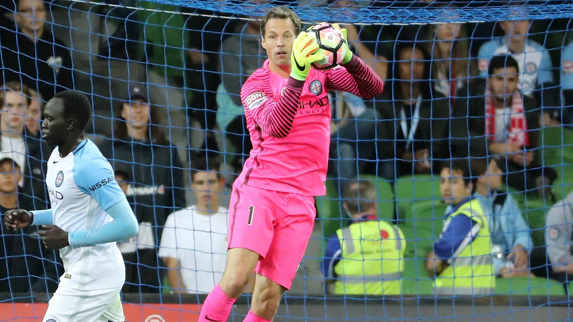 Thomas Sorensen Melbourne City v Sydney FC A-League 24022017