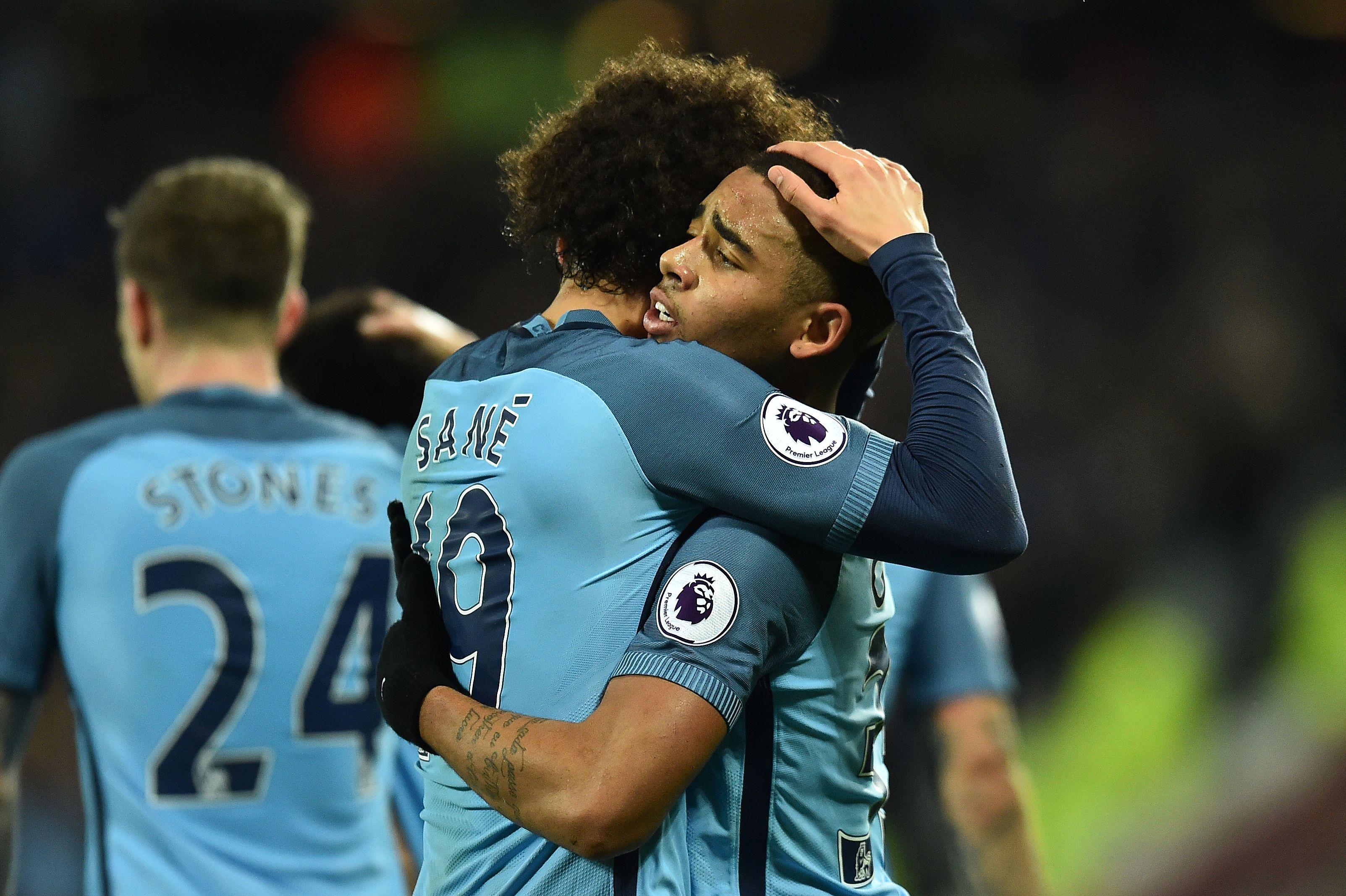 Leroy Sane Gabriel Jesus Manchester City